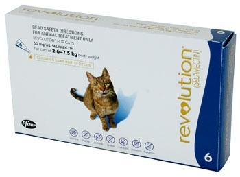Revolution Cat 2.6 – 7.5 kg (Blue) 3 Tablets