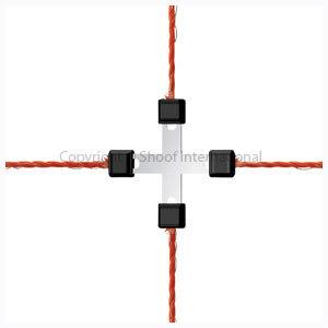 Netting Fence Repair Clip 4-way 5-pk