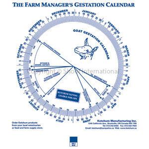 Gestation Calendar Goat
