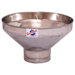 Milk Strainer Funnel Cowbell Stainless