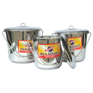 Bucket Stainless Cowbell w Lid 10L