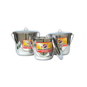 Bucket Stainless Cowbell w Lid 7L