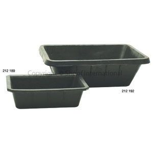 Feed Pan Recycled Rubber 12L no-handle