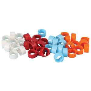 Poultry Leg Band Clip-on 20mm 100pk Red