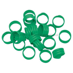 Poultry Leg Bands Plastic 16mm Green 20