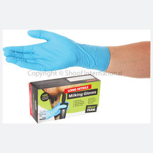 Milking Gloves Long Nitrile Small/100