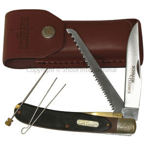 Knife Old Timer Buzz Saw Trapper w Pouc
