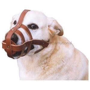 Dog Muzzle Leather Small