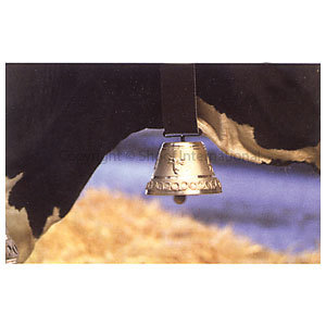 Cow Bell Round Cast 11cm (collar to 50mm