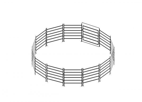 bos ag round horse yard panels