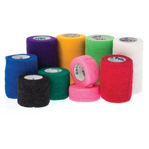 Bandage Cohesive Coflex 10cm Red each